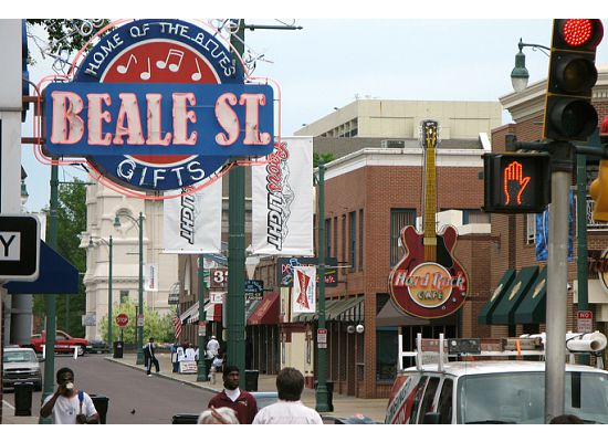 Beale Street in Memphis features clubs, restaurants, and friendly people who celebrate the blues day and night. (Photo by Mark Micheli)