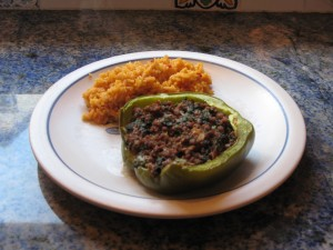 Stuffed peppers, the way my mother used to make them.