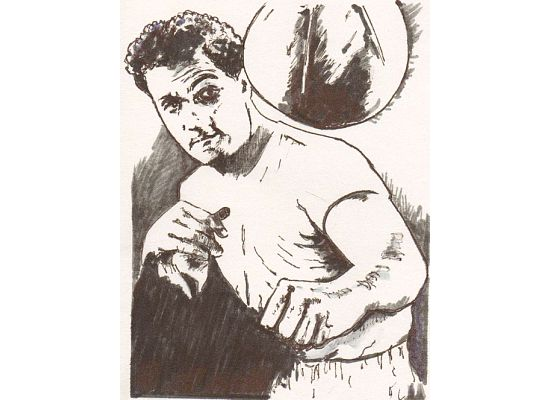 Rocky Marciano, by Andover artist Joe Gemellaro.