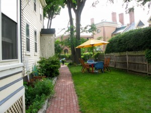 And a look at the side yard now.