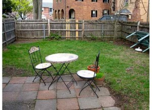 And this is what the yard looked like before the makeover.