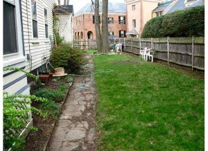 A look at the side yard before the makeover.