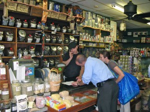 Cooking students at a nearby restaurant stopped in to pick up some items as part of their shopping/scavenger hunt.