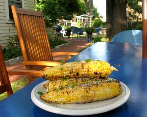 Corn-on-the-cob Batali-style. This is not your grandmother's corn.