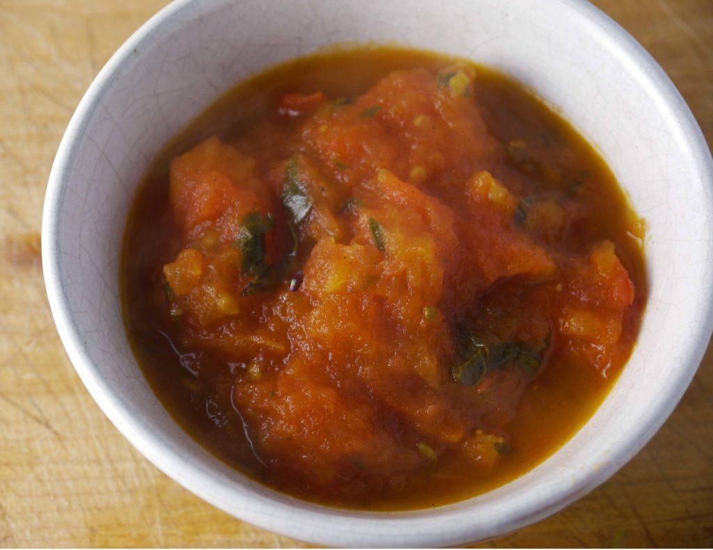 Bowl of tomato sauce