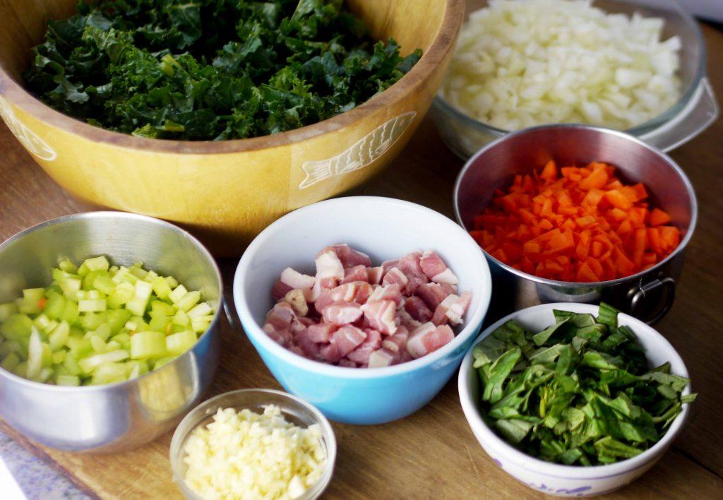 Bowls filled with vegetables