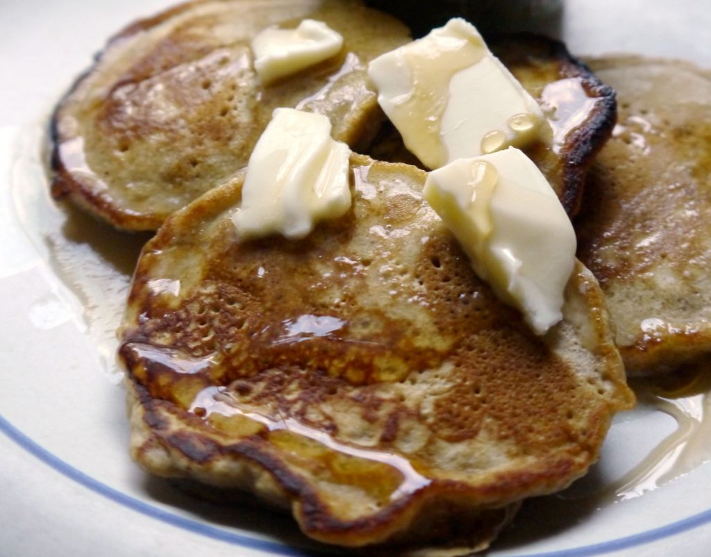 Pancakes with melted butter