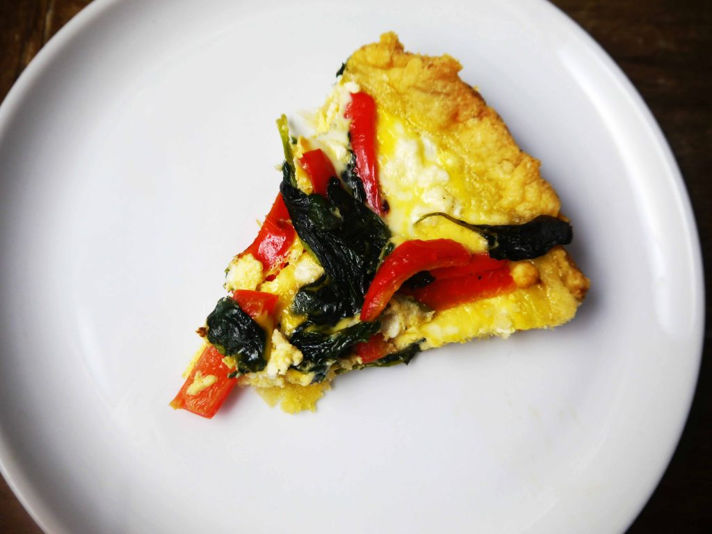 Slice of quiche.