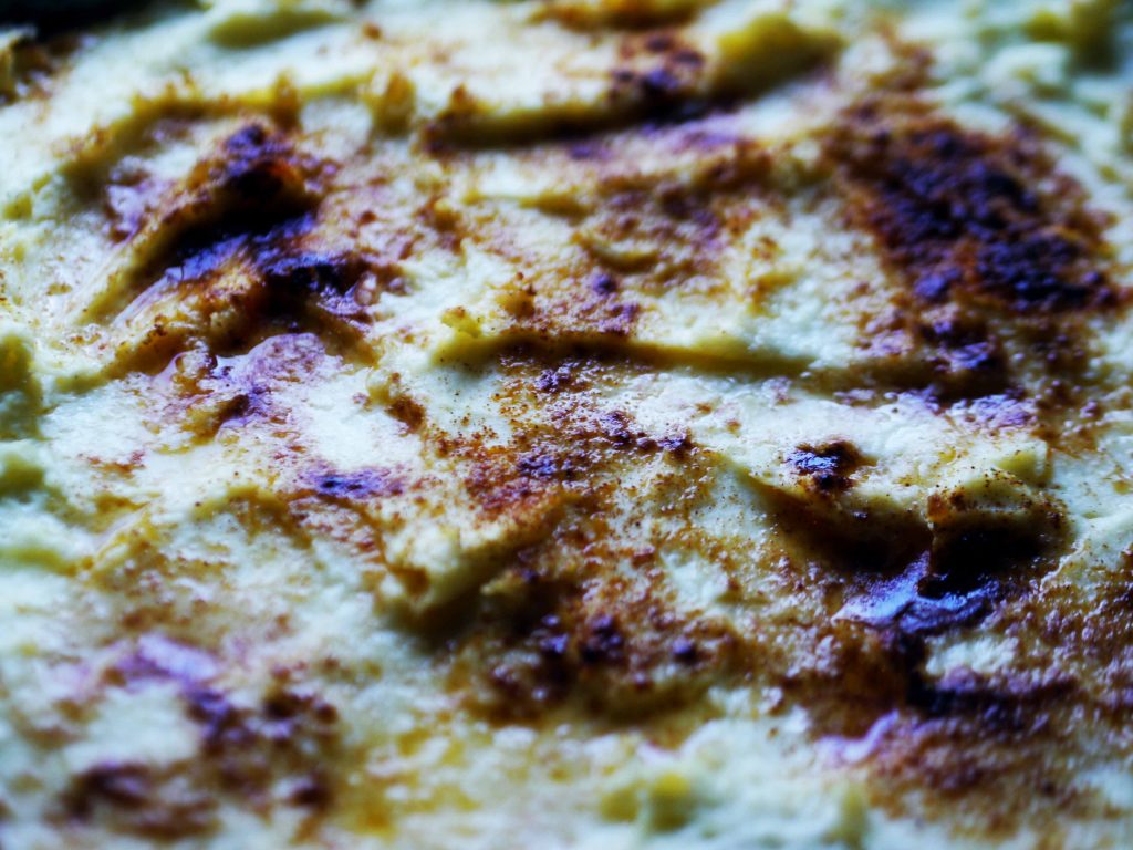Close up of hot mashed potatoes