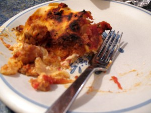 This lasagna took a few hours to make but was easy.