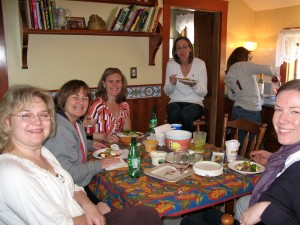 Mothers, daughters, cousins, and nieces all celebrated Greek food in the RootsLiving kitchen.