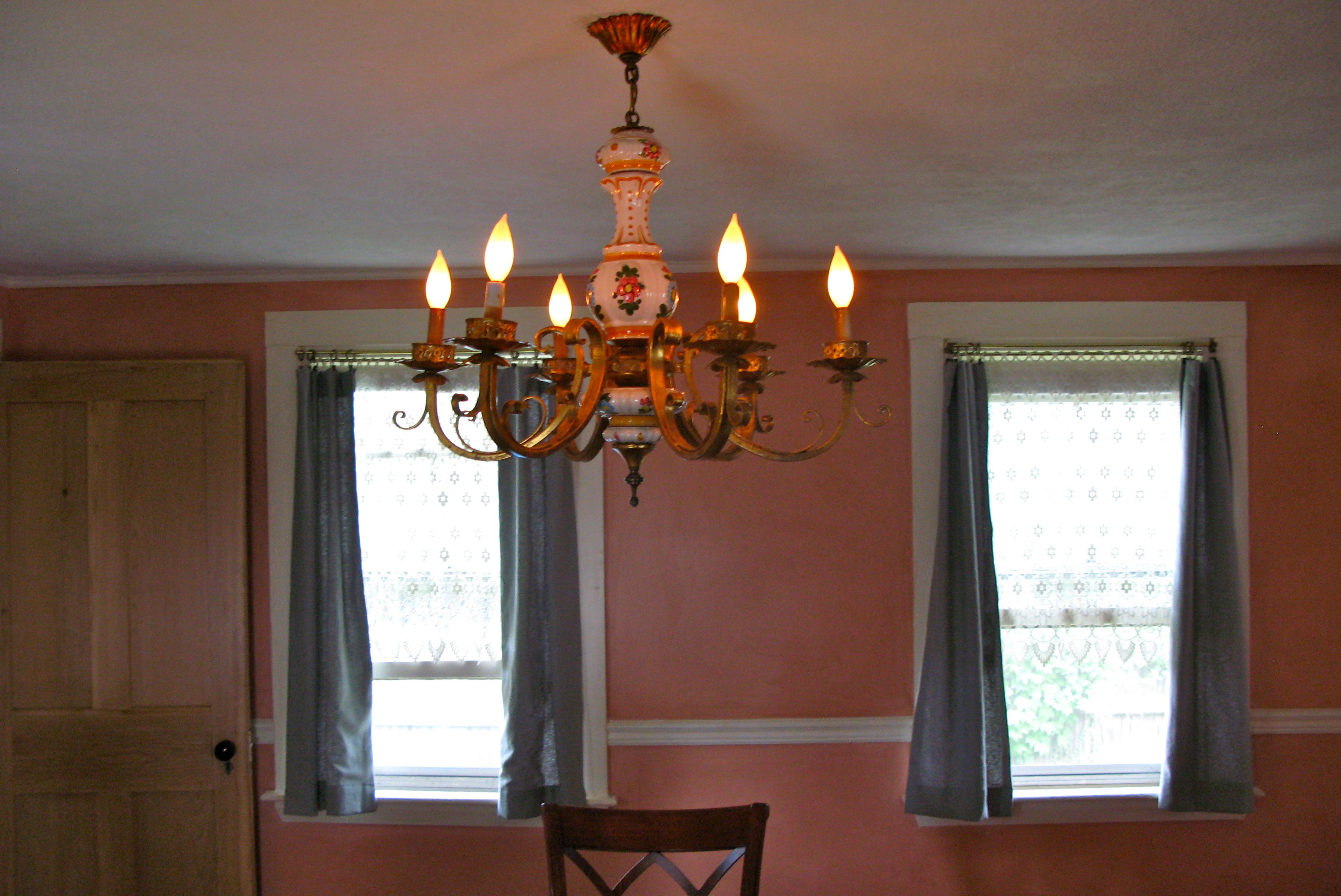 This chandelier was shipped from California to the Boston area.