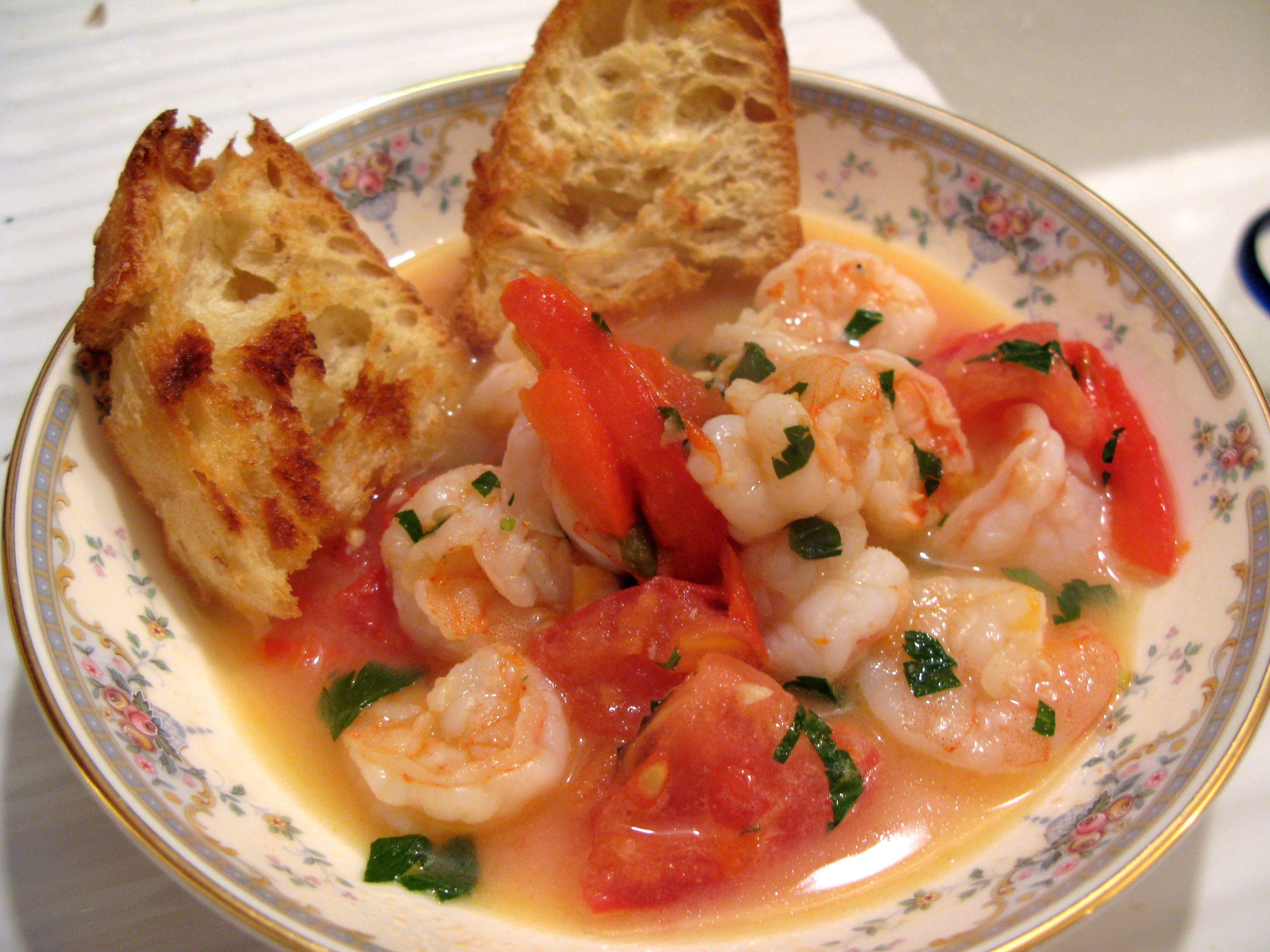 Here is the Roasted Pepper Shrimp Saute I made with a recipe from Joshua's Restaurant.