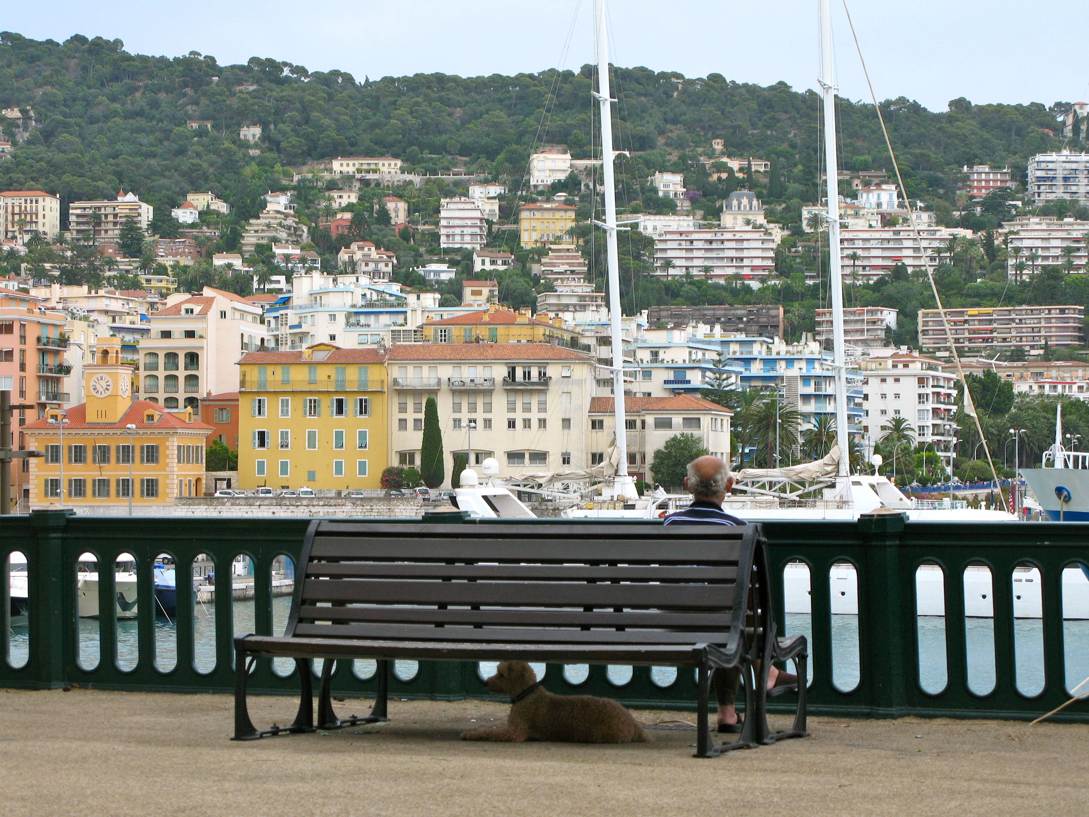 This view of the old port in Nice isn't too far from La Zucca Magica.