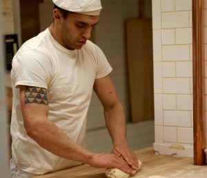 All of the breads are made by hand, following old world practices and recipes developed by Tock.