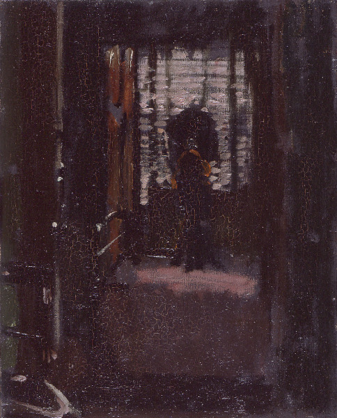 "Sickert painted ""Jack the Ripper's Bedroom"" (above). The pink streaks on the floor could be light from the window or something worse. (Courtesy of Manchester Art Gallery)"