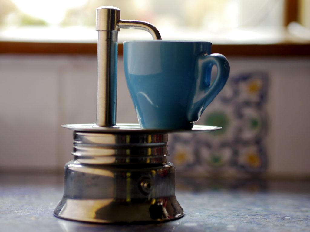 A one-shot espresso pot.