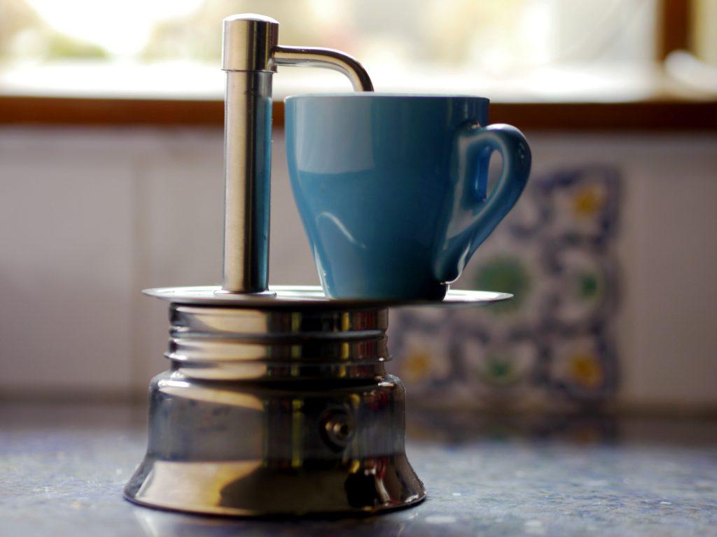 A one-shot espresso pot.