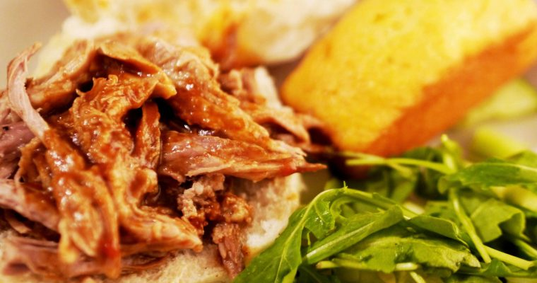 Espresso Shot Pulled Pork Sandwiches (in a slow cooker)