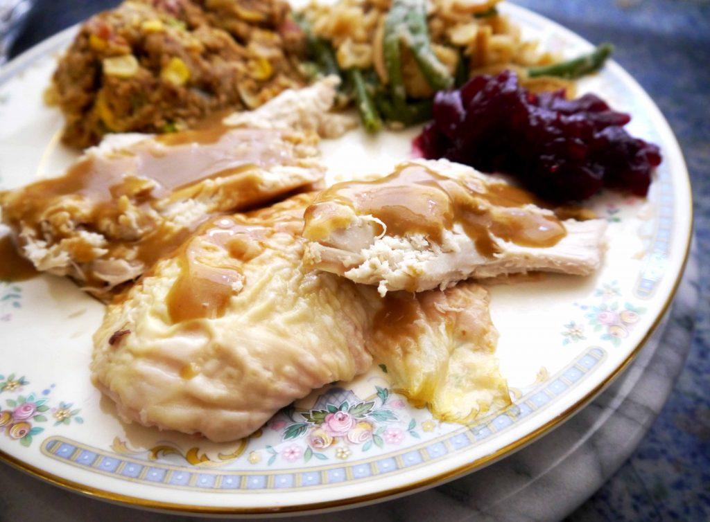 Sliced turkey on a plate
