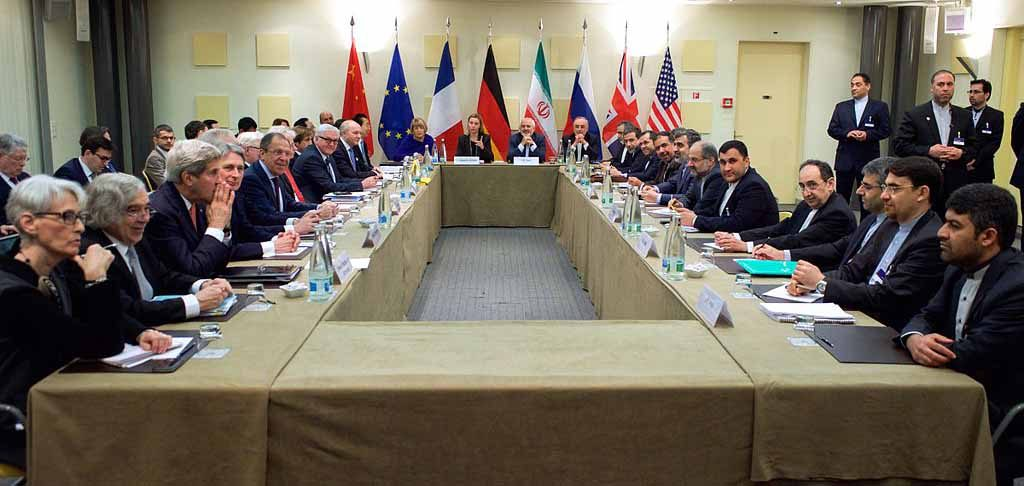 Politicians negotiating an international deal