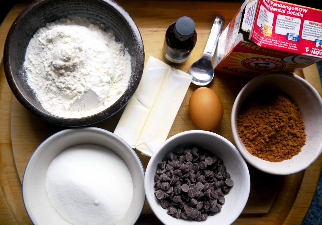 Ingredients to make cookies.