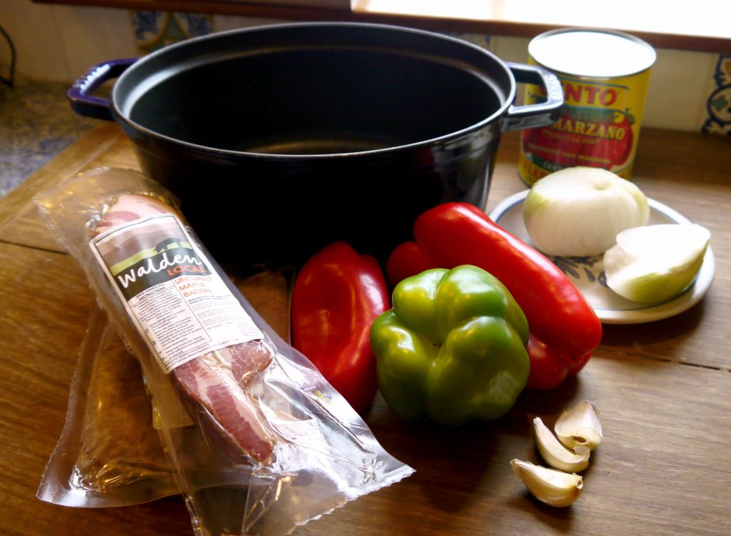 Ingredients for the stew.