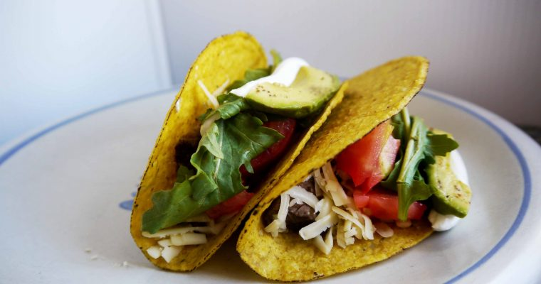 Easy Weeknight Tacos (with leftover steak or chicken)