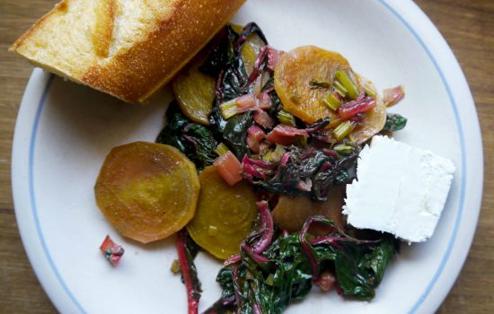 Beet Salad in a Buttery Wine Sauce