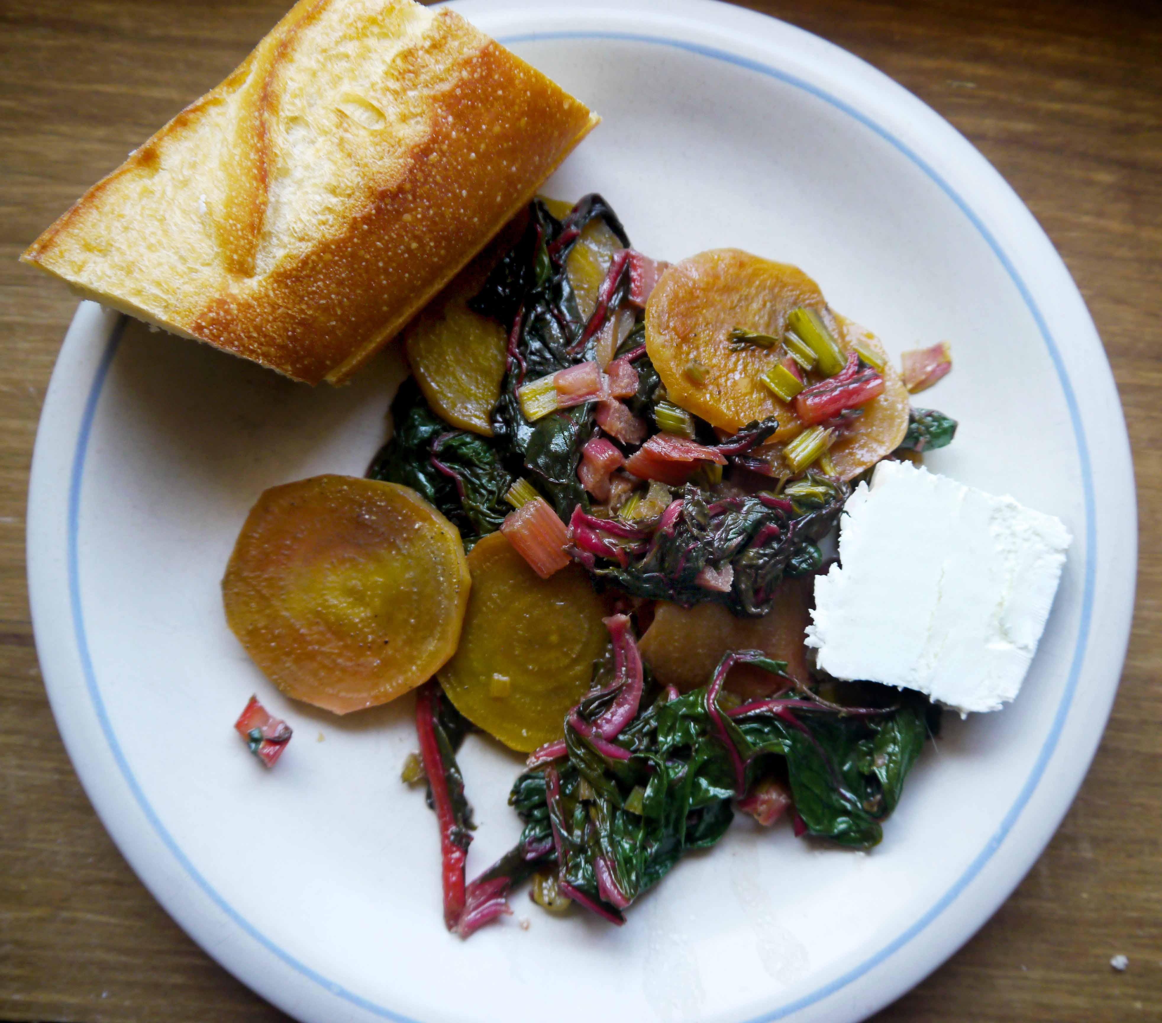 Beet salad on a plate