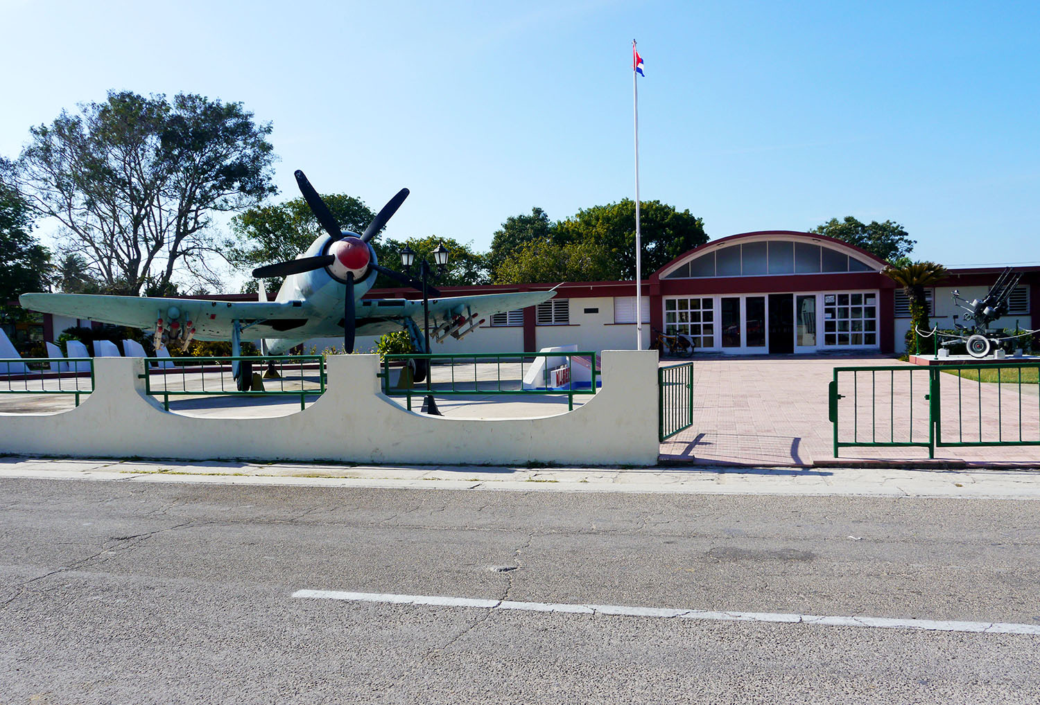 The entrance to the Bay of Pigs Museum in Cuba.