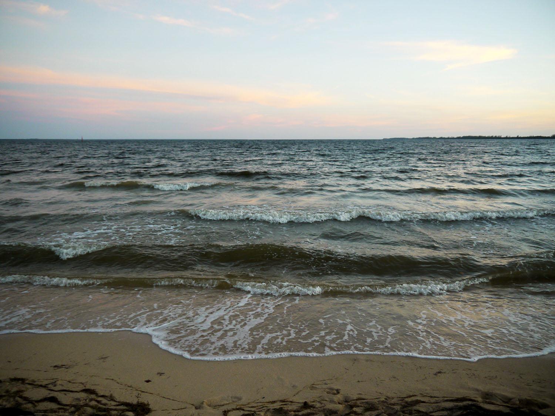 Small waves at Playa Larga.