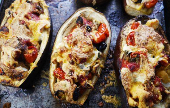 Melanzane a Barchetta (Stuffed Eggplant)