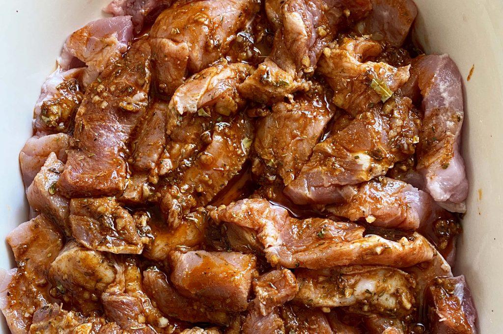 Pork marinating