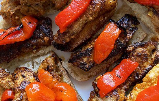 Spanish Tapas: Marinated Pork Canapé