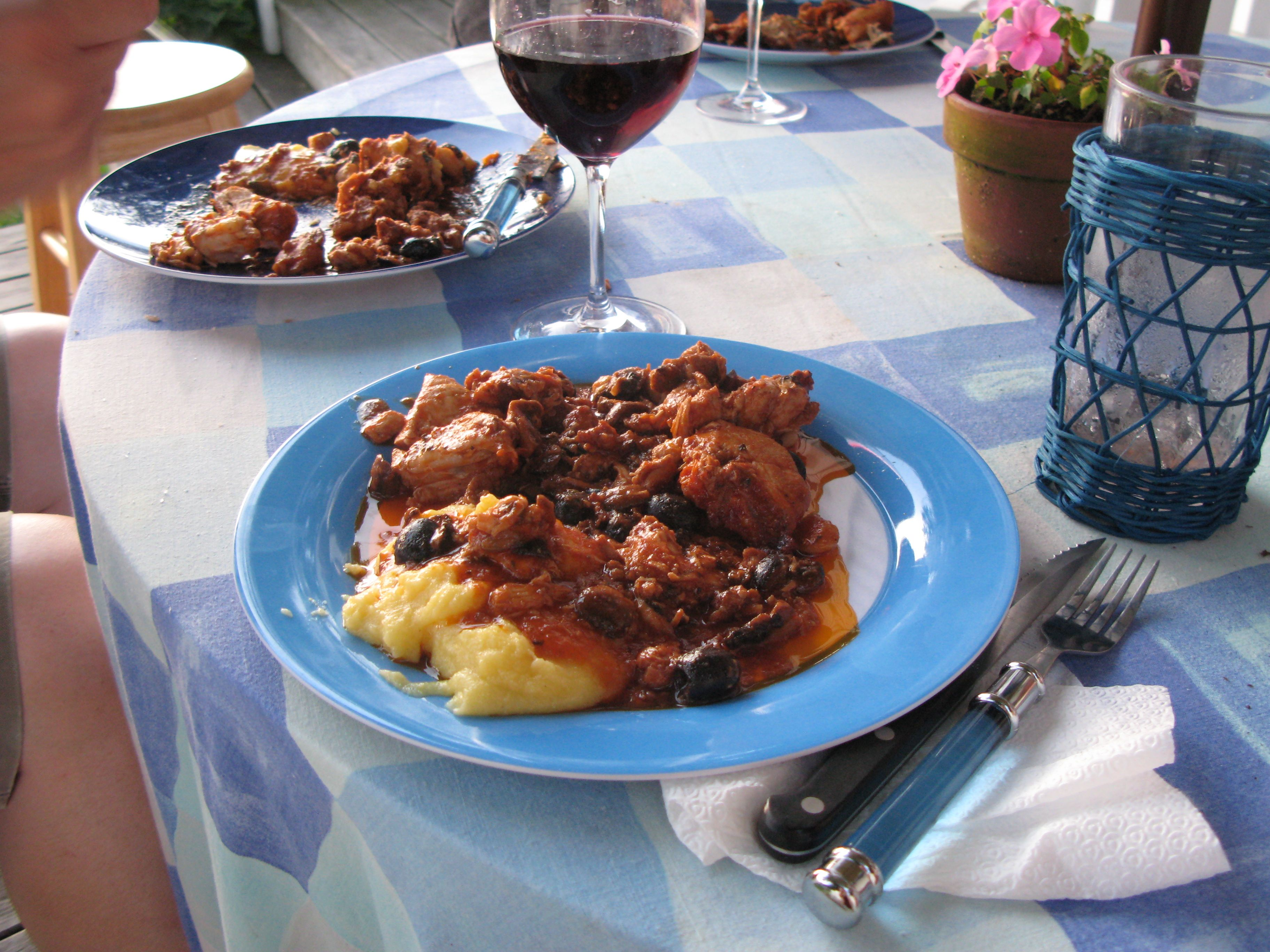 Prized Recipe: Chicken with Polenta