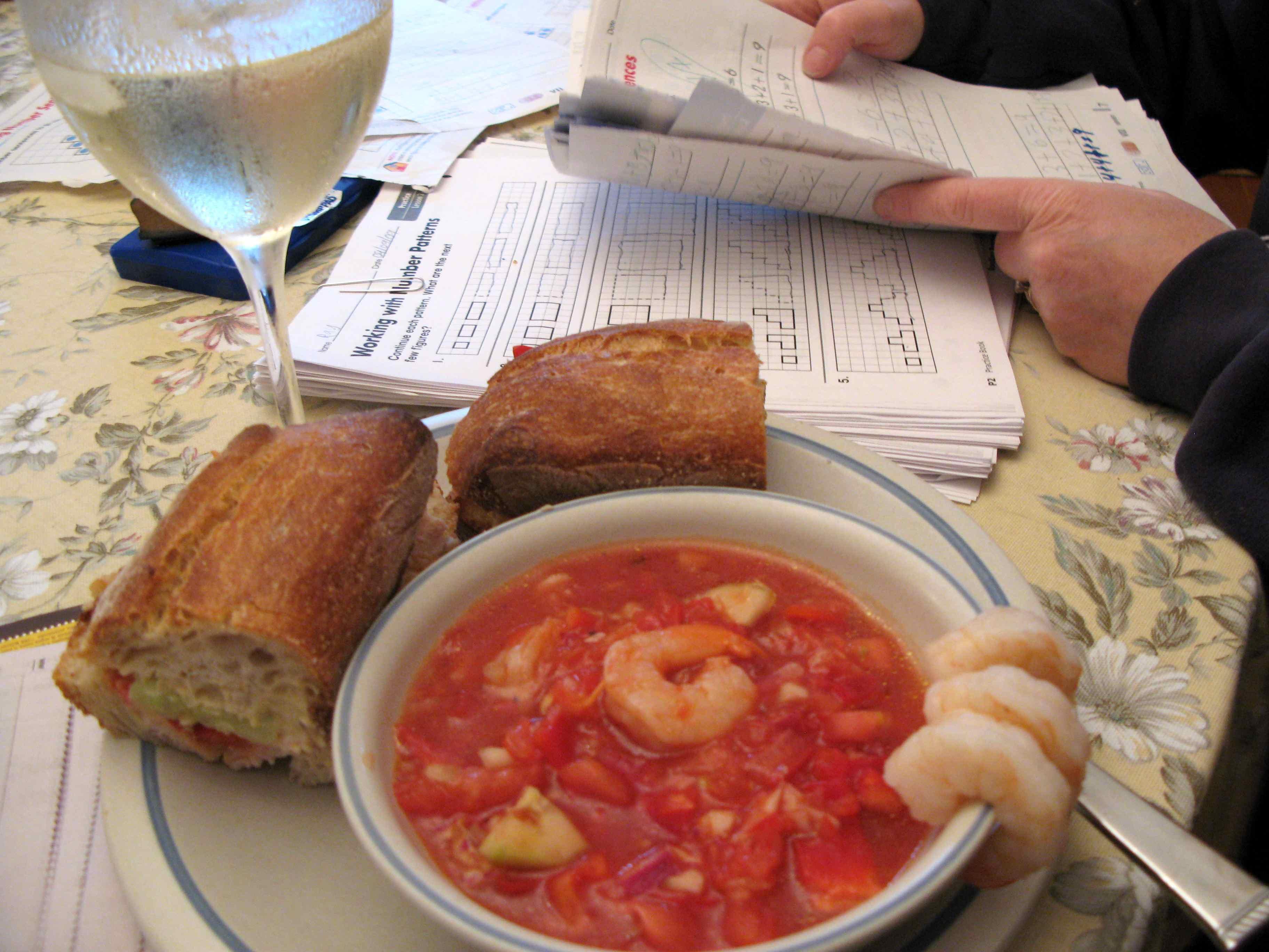 Work Night Dinner: Octopus's Garden Gazpacho/Sandwiches