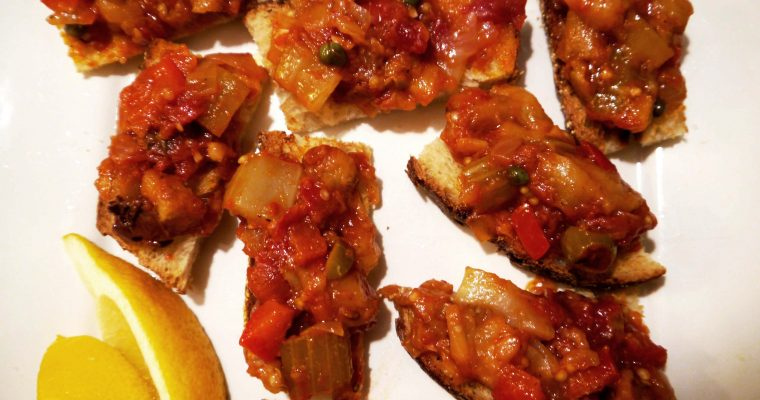 Caponata, aka: Sweet and Sour Eggplant