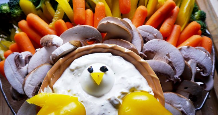 Veggie Turkey Platter and Dip
