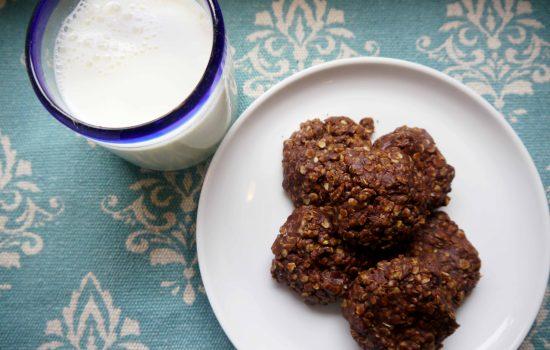 Chocolate Oatmeal Peanut Butter No-Bake Cookies