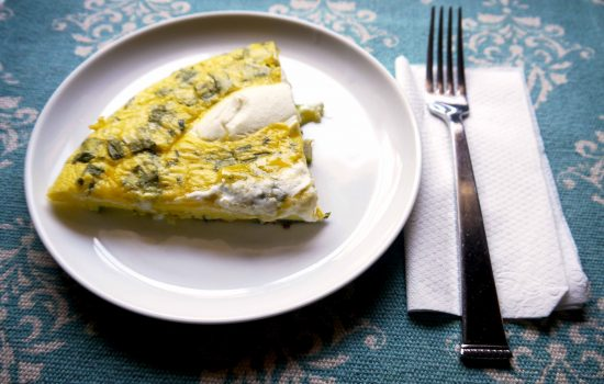 Frittata, This One With Onion and Zucchini