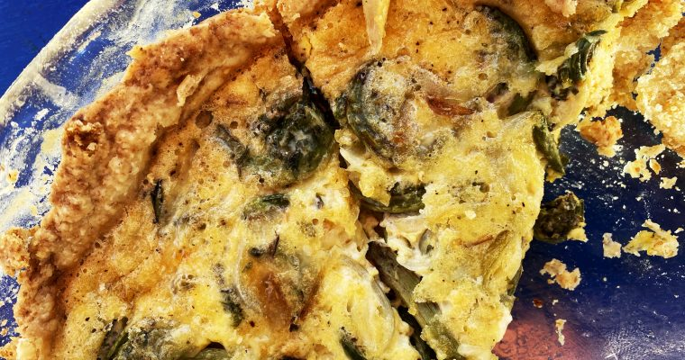 Get Your CSA On With This Spring Fiddlehead Tart